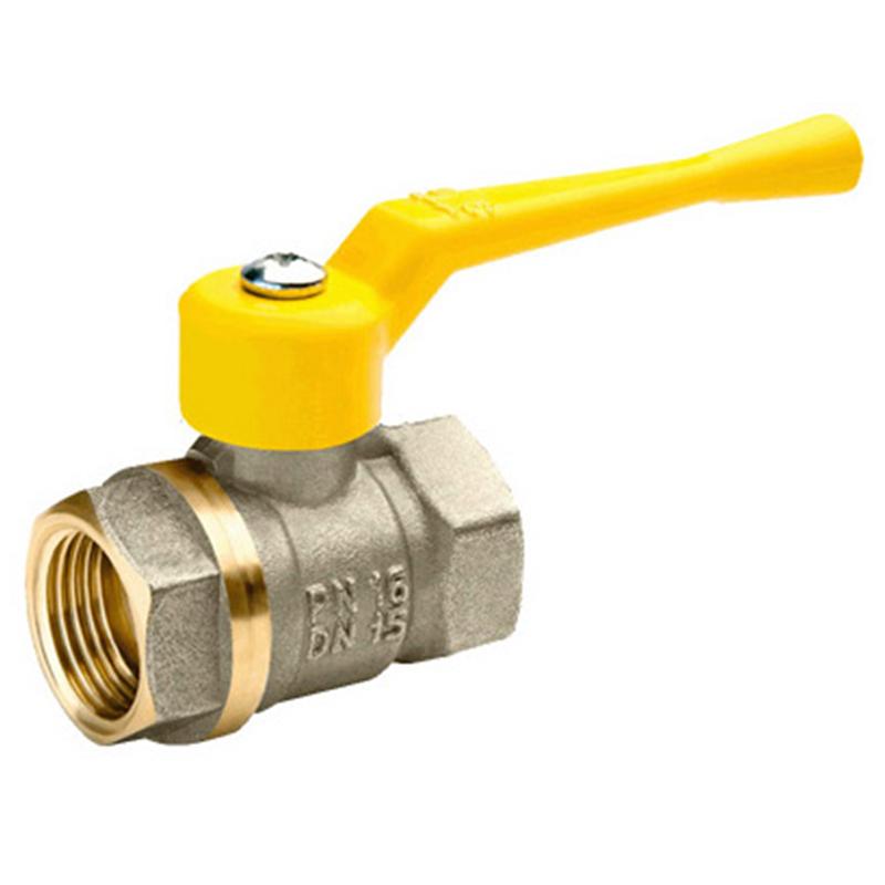 Кран шаровый газовый комбинированный 11Б27п Ду 20 PN 16 рычаг муфта-муфта