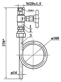 ЗК14-1.00-95 отборное устройство давления