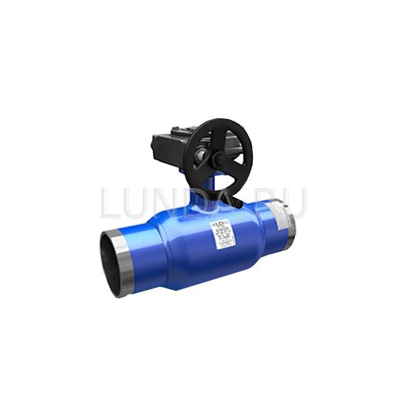 Шаровой стальной кран сварка/сварка Energy с механическим редуктором, Ду 150-500, Ру 16-25, LD