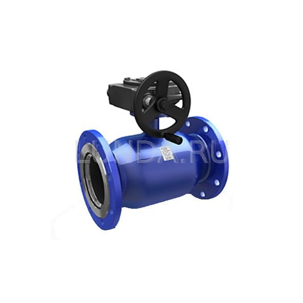 Шаровой стальной кран фланец/фланец полнопроходной Energy с механическим редуктором, Ду 150-400 Ру 16-25, LD