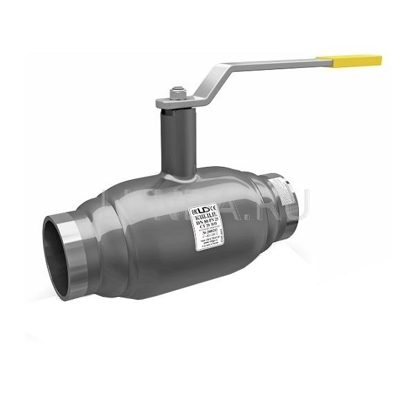 Шаровой стальной кран сварка/сварка полнопроходной, с рукояткой, Ду 15-200, Ру 16-40, LD