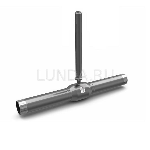 Шаровой стальной кран для жидкости сварка/сварка с удлиненным штоком для подземной установки, полнопроходной, Ду 50-600, Ру 16-40, LD
