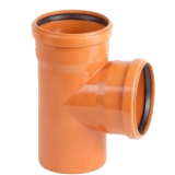Тройник 87° ПВХ для канализационных труб