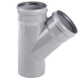 Тройник ПВХ для канализационных труб