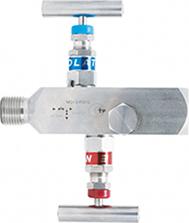 Двухвентильный игольчатый клапан из нержавеющей стали
